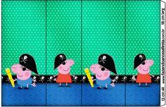 Rótulo Nescauzinho George Pig Pirata: