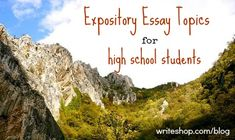 Good expository essay topics for high school Dec 2017 · General expository essay topics can be used in. Explain the consequences of having a job while in high school. 61 General Expository Essay Topic Ideas to. High School Writing, School Essay, Homeschool High School, College Essay, Expository Writing Prompts, Argumentative Essay Topics, Narrative Essay, Writing Classes, Teaching Writing