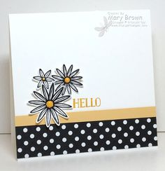 stampercamper.com - The theme for the SUO challenge this time is Welcome Spring.  This one REALLY had me stumped!  I decided that although daisies aren't really a 'spring' flower the feel of the card is spring!  All the details on my blog.  Sets:  Grateful Bunch, Tin of Cards