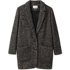 Étoile Isabel Marant Dulcie Herringbone Jacket (€540) ❤ liked on Polyvore featuring outerwear, jackets, coats and coats & jackets