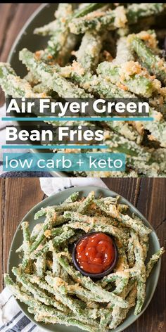 Keto Discover Air Fryer Green Bean Fries (low carb keto) Are you looking for a crispy salty snack? These easy Air Fryer Green Bean Fries are the perfect low side dish or appetizer! Under 6 net carbs per serving! Naturally gluten free and keto friendly! Low Carb Keto, Low Carb Recipes, Diet Recipes, Cooking Recipes, Paleo Meals, Shrimp Recipes, Low Carb Side, Easy Recipes, Ninja Recipes