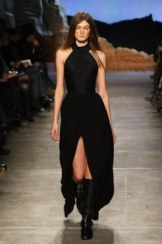 A model walks the runway at the Boy and Girl by Band of Outsiders Fall 2012 fashion show during Mercedes-Benz Fashion Week at SIR Stage37 on February 11, 2012 in New York City.