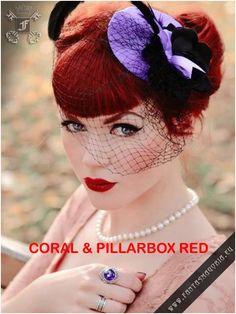 alternative-pinup: Alternative Pin Up Moda Rockabilly, Rockabilly Pin Up, Rockabilly Fashion, Rockabilly Artists, Rockabilly Makeup, Gothic Hairstyles, Retro Hairstyles, Wedding Hairstyles, Pinup