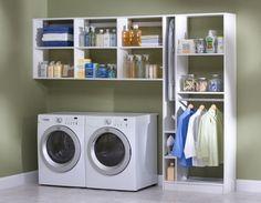 Laundry Organization Small Room Organisation Utility Closet Shelves