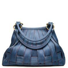 Harveys Seatbelt bag Large Stella Hobo Blue Jeans Denim