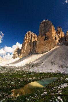 The Cime di Lavaredo , province of Belluno , Veneto region Italy