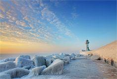 Frozen Lighthouse, Sassnitz - Germany by Sandra Kreuzinger
