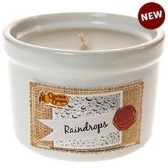 The Cracker Barrel Raindrops Ramekin Candle not only fills your home with the refreshing scent of soft florals and fruits, but the ramekin dish is safe to use for food or decor when the candle is done.