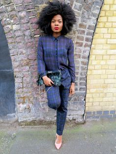 Zara Checked Jumpsuit: asos bershka biker jacket check checked jumpsuit court heels feather clutch feathers leather jacket plaid tartan topshop afro