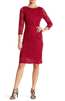 Marina - Stretch Sparkle Lace Dress