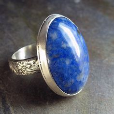 Handmade Sterling Silver and Lapis Ring