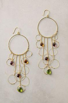NWOT Anthropologie Nakamol Expanding Solar System Gemstone Earrings | eBay