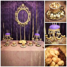 This was my daughter's princess party.  We already had several things in purple and gold, so we went with a regal princess theme to keep costs down.