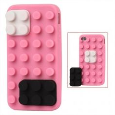 Building Blocks Silicone Case for iPhone 4 / - Soft Pink Pink Iphone, Iphone 4s, Iphone Cases, Apple Iphone, Pretty In Pink, Hot Pink, Lego, Ipad, Building
