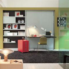 cama escritorio integrados Muebles para ahorrar espacio: Cama y Escritorio Ulisse