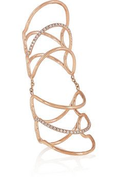 Diane Kordas 18-karat rose gold diamond ring | NET-A-PORTER