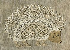 "fibrearts: ""Bobbin Lace Hedgehog """