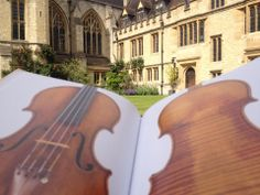 "A day at the""Oxford office"" reading the new Stradivari catalogue and enjoying the sunshine! ... Bliss!"