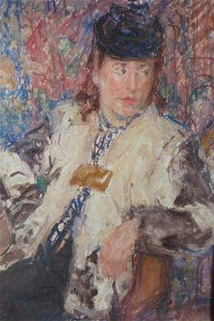 Portrait Impressionniste Femme Posant Dans UN Fauteuil Xixème | eBay