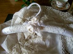 Bridal wedding hanger lovely lace