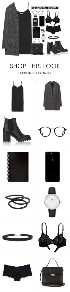 """""""#398"""" by blacksky000 ❤ liked on Polyvore featuring Equipment, Zara, Barneys New York, Ray-Ban, Goody, CLUSE, Humble Chic, American Eagle Outfitters, Marie Meili and Lanvin"""
