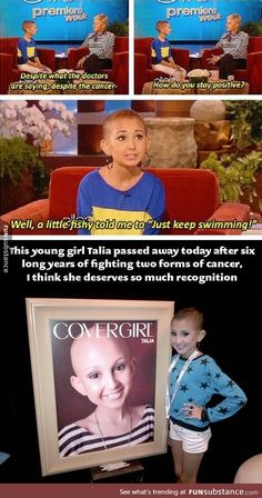 This Talia joy. She died of cancer when she was 13 years old. She is so pretty o think and who of ever doesn't is messed up. She wanted to do many things. In loving memory of this beautiful Girl. Sweet Stories, Cute Stories, We Are The World, In This World, Human Kindness, Touching Stories, Gives Me Hope, Faith In Humanity Restored, Good People