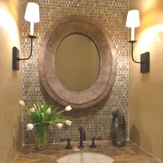 powder bathroom (a bit too fancy but can tone it down a little)