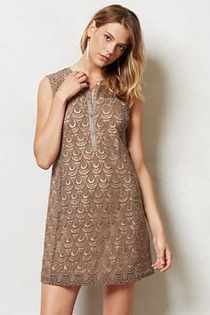 Shimmered Lace Shift #anthropologie #AnthroFave