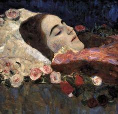 """"""" Ria Munk on Her Deathbed - Gustav Klimt 1912 """""""