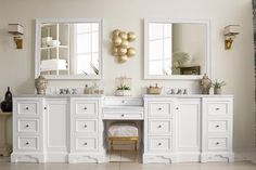 James Martin Vanities De Soto Free Standing Double Vanity S Bright White Bathroom Storage Vanity Sets Double Double Sink Bathroom, White Bathroom, Small Bathroom, Bathroom Ideas, Neutral Bathroom, Bathroom Vanities, Bathroom Storage, Lavender Bathroom, Master Bathrooms