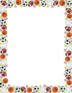 free sports ball border templates including printable border paper and clip art versions file formats include gif jpg pdf and png