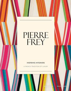 Serge Gleizes, journalist and Philippe Garcia, fashion photographer, collaborated to create the first Pierre Frey's book: Inspired Interiors! Find it at the #Assouline Bookstore in the #DDBuilding Lobby and visit the @pierrefrey showroom in suite 1611
