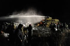 Police defend use of water cannons on Dakota Access protesters in freezing weather