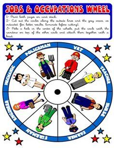 #JOBS AND OCCUPATIONS WHEEL