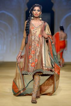 Fashion Ashima and Leena Collection @ India Bridal Fashion week 2013.