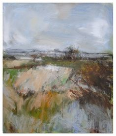 'Autumn Fields', Janine Baldwin, oil & charcoal on canvas, 53 x 46cm  www.janinebaldwin.co.uk