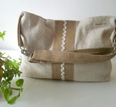 antique linen shoulder bag hobo bag crossover bag by boonestaakjes, $80,00 #bags and purses, #linen, #recycled