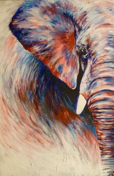 Canvas painting are great way to decorate and enrich any space. Check out these painting ideas you can easily do canvas art by yourself. Simple Canvas Paintings, Canvas Art, Elephant Artwork, Elephant Canvas Painting, Elephant Paintings, Pastel Art, Pastel Drawing, Beginner Painting, Art Plastique