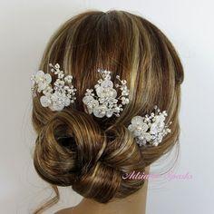 Bridal Flower Hair Pin Wedding Hair