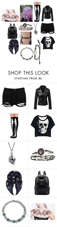"""""""Xxx"""" by mysterious-demon ❤ liked on Polyvore featuring Boohoo, Chicnova Fashion, Black Pearl and Alexander McQueen"""