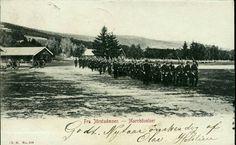 Oppland fylke Lillehammer JØRSTADMOEN - Marchövelser. Uvanlig kort Utg Gudbrandsdals Bokhandel Brukt 1905
