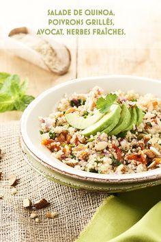 Photo culinaire salade quinoa ©MaudArgaibi Stylisme Caroline Pessin Fried Rice, Cobb Salad, Love Food, Menu, Cooking, Ethnic Recipes, Blog, Grilled Bell Peppers, Quinoa Salad