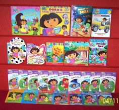 26 Dora the Explorer Books~Little Life Lessons~Storytime Collection~Phonics