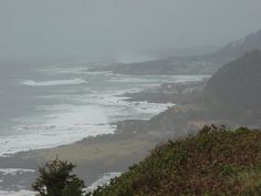 Yachats, Oregon sprawls along Highway 101 on the north side of the Yachats River estuary.