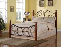 wood and iron bedroom furniture. Iron Beds And Headboards Queen Wood With Metal Headboard \u0026 Footboard Bed Swirl Design By Coaster - Underground Furniture San Bedroom O