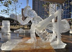 Magnificent 7 Ice Carving Competition by Texas.