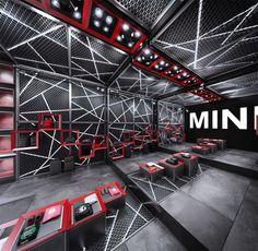 Igor Iastrebov on Behance Gym Design, Garage Design, Retail Design, Display Design, Booth Design, Store Design, Shoe Display, Gym Interior, Retail Interior