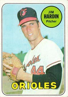 1969 Topps #610 Jim Hardin Front