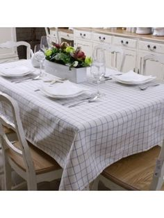 Nordic style Concise Gingham Table Cloth
