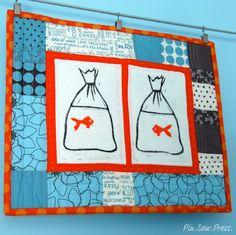 What a wonderful goldfish quilt